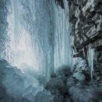 La Cascata della Morricana in inverno